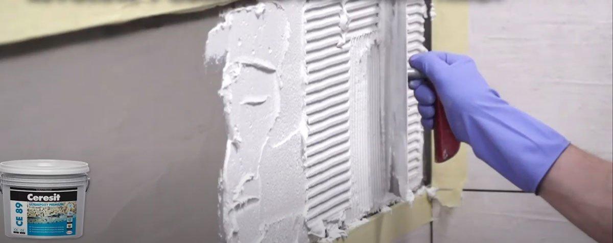 Lepení mozaiky lepidlem Ceresit
