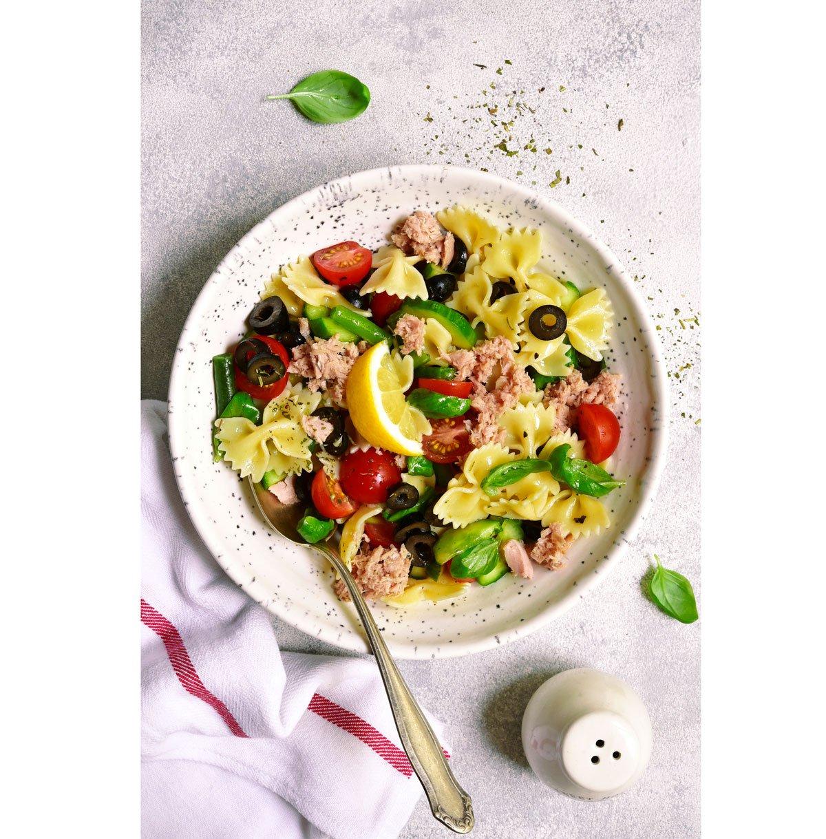 Recept na těstovinový salát stuňákem