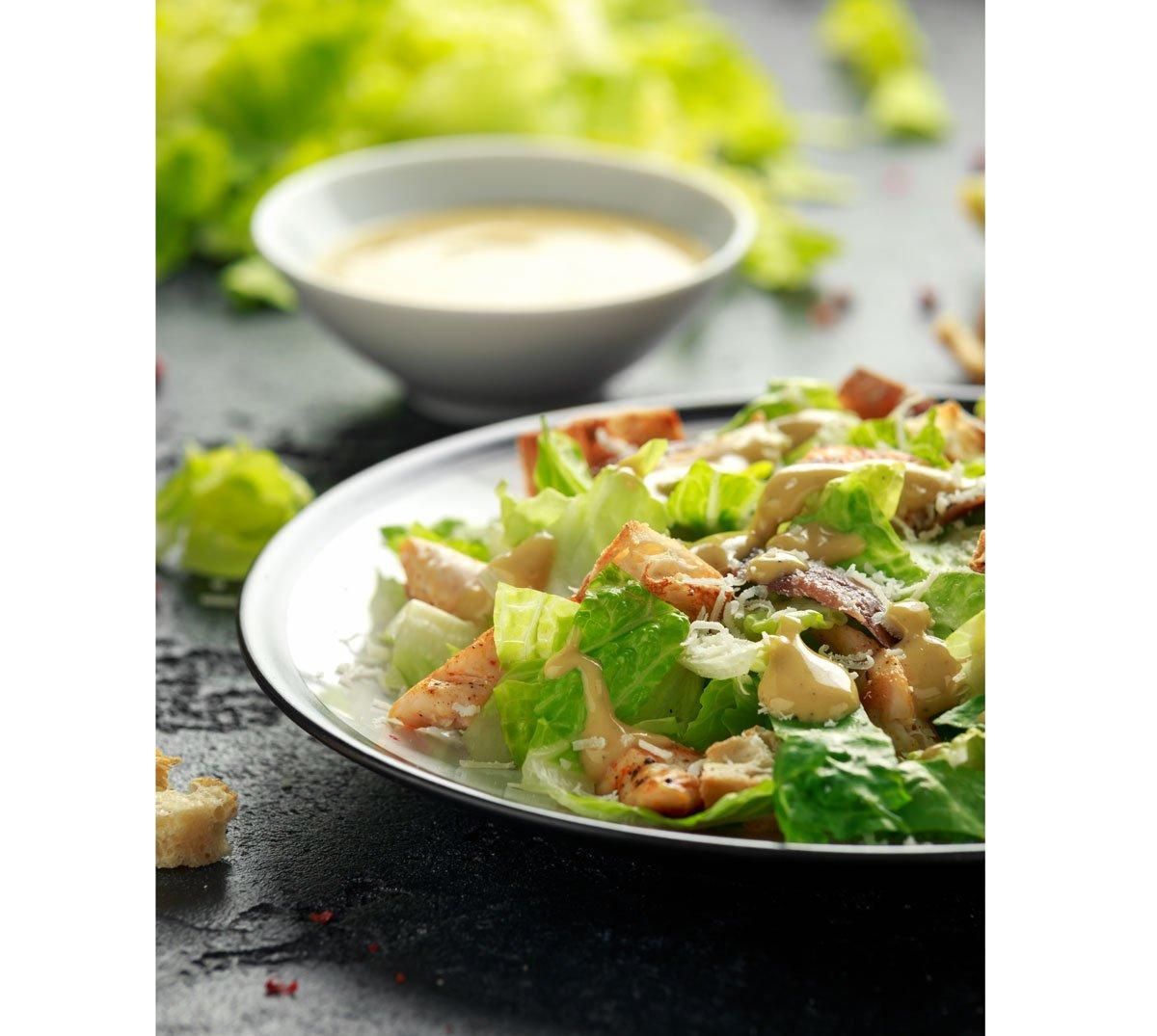 Recept na caesar salát skuřecím masem