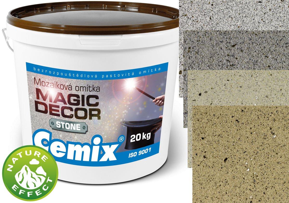 Balení Cemix Magic Decor a odstíny Granit White, Granit Grey, Sand Sahara a Sand Stone