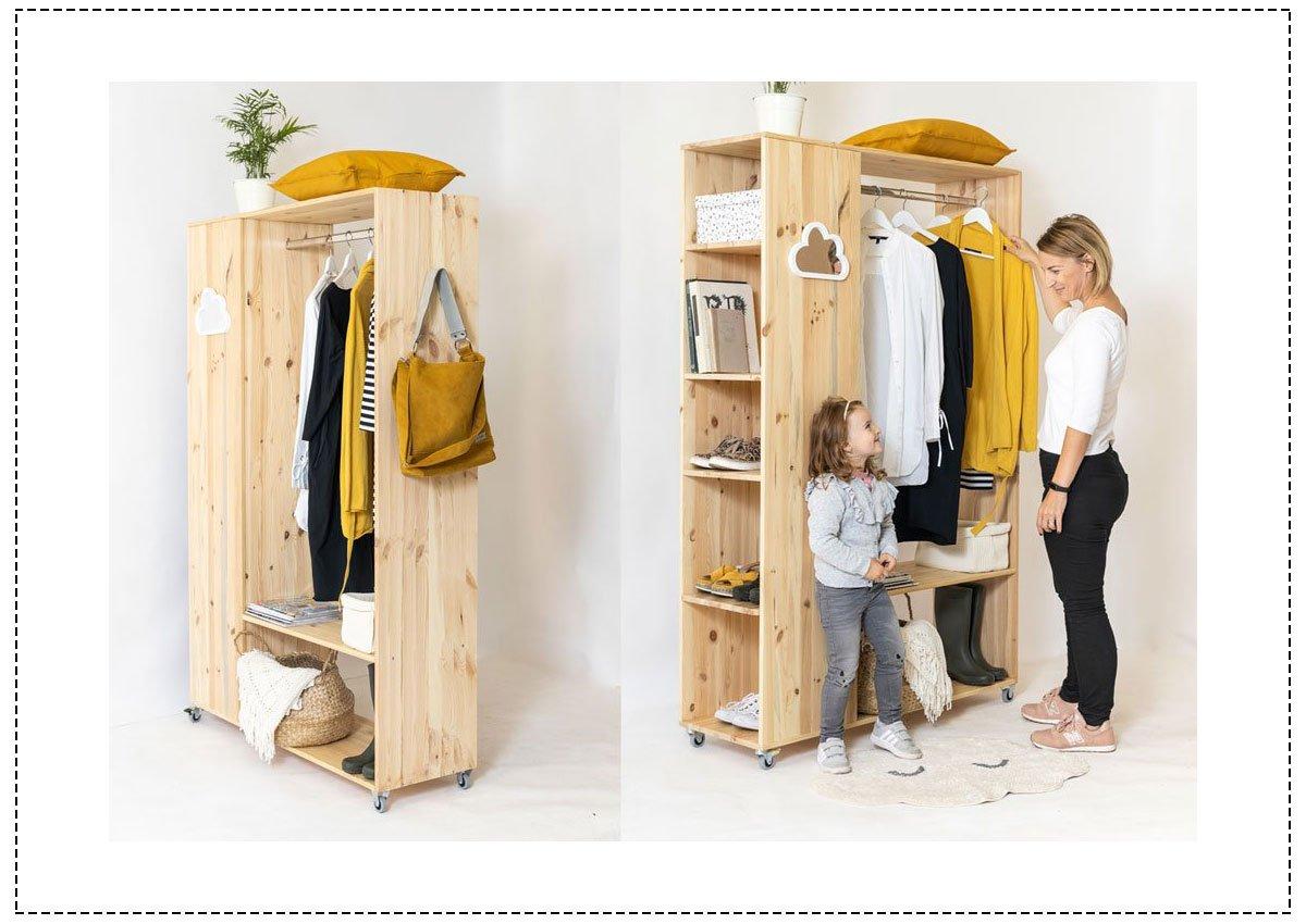 Kutilské projekty: mobilní šatníková skříň
