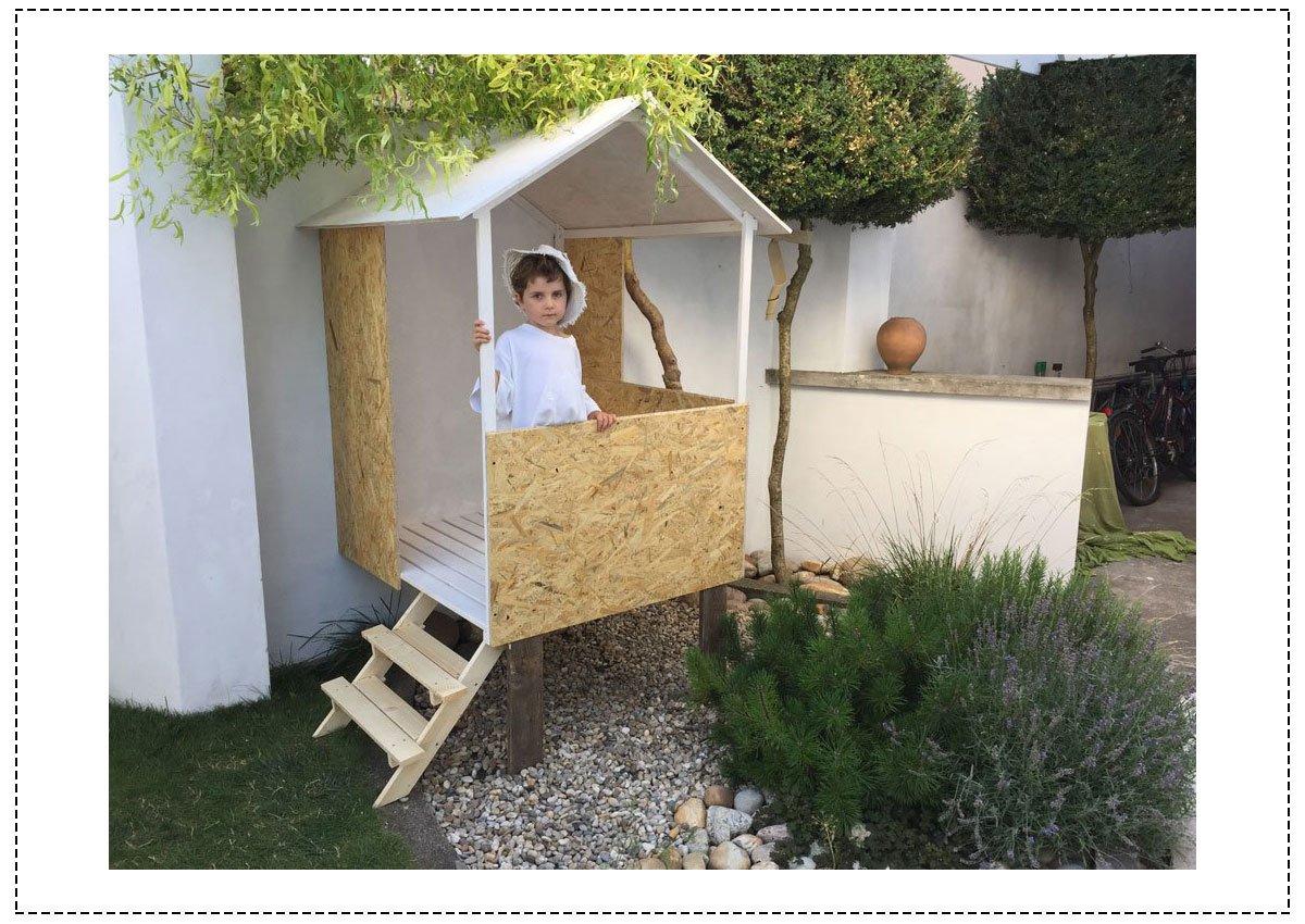 jednoduchý dětský domek na zahradu