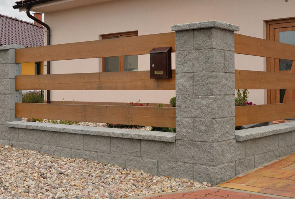 beton určený pro vyplnění plotových betonových tvarovek a podezdívek základových konstrukcí
