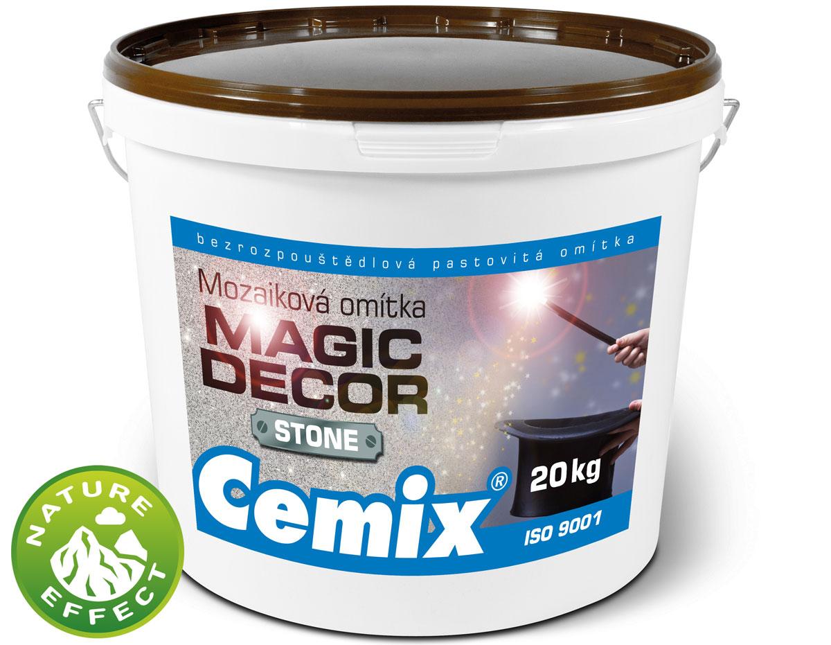 Omítka Cemix MAGIC DECOR STONE se vzhledem kamene
