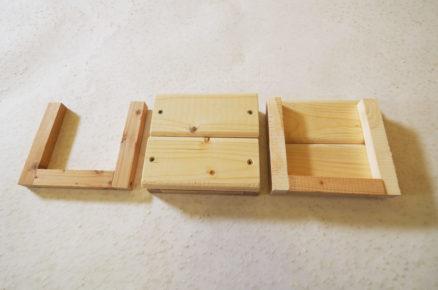 Boční stěny dřevěných bedniček