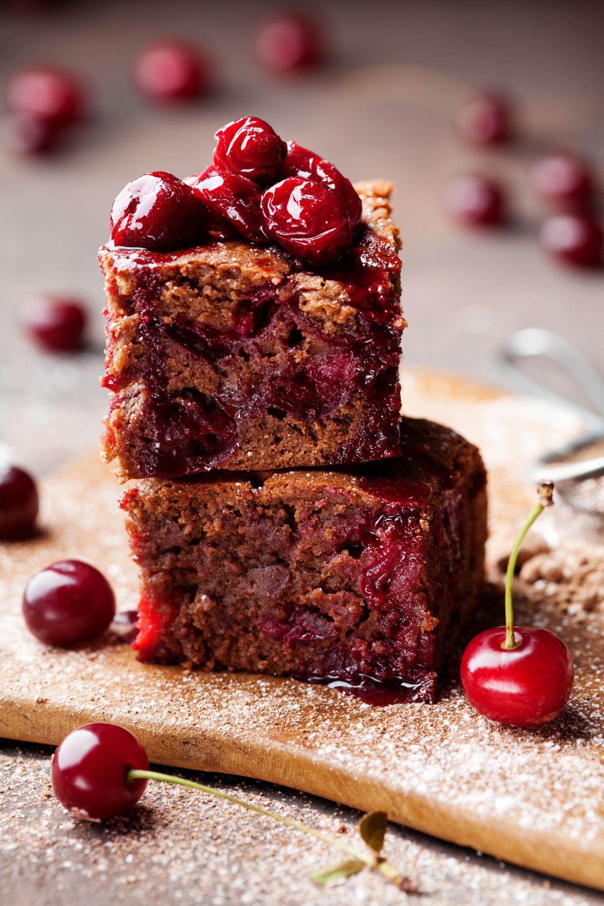 Višňové brownies