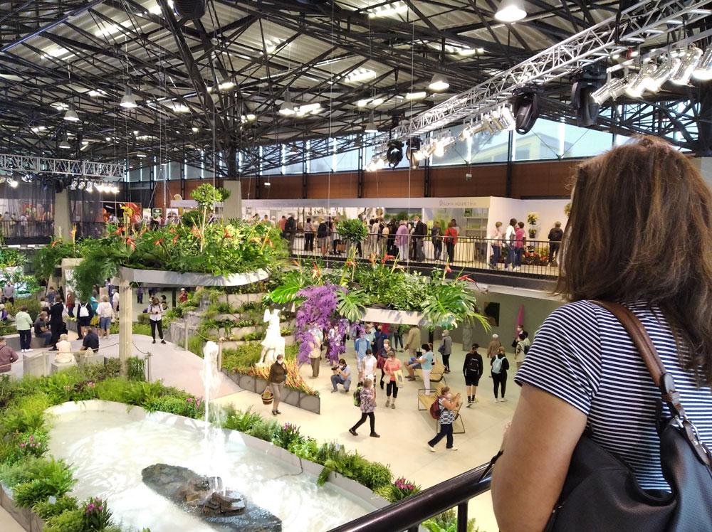pohled na interiér letní verze Flory Olomouc 2021