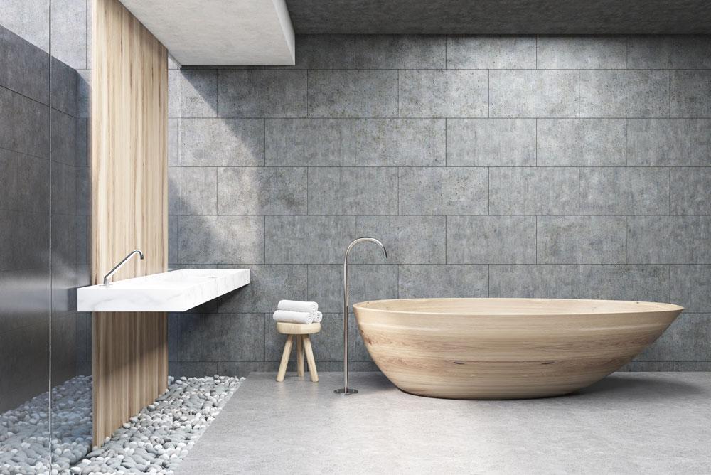 moderní koupelna s obkladem